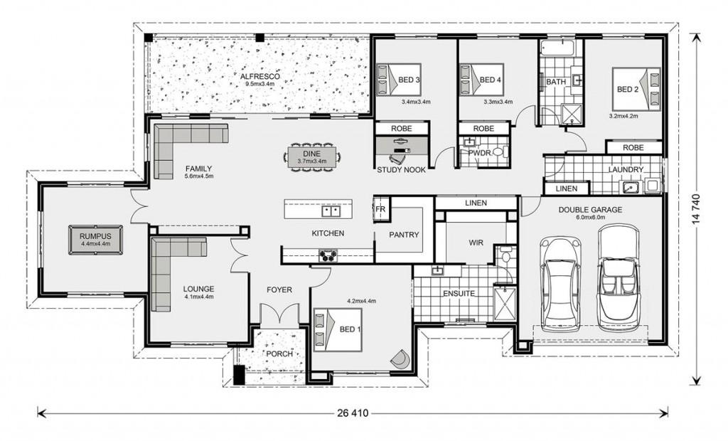 Oakdale 320 - Estate Series Floorplan
