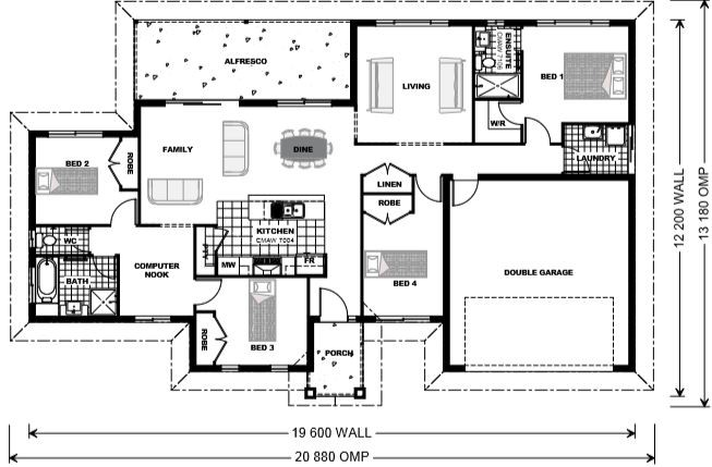Bridgewater 200 - Estate Series Floorplan