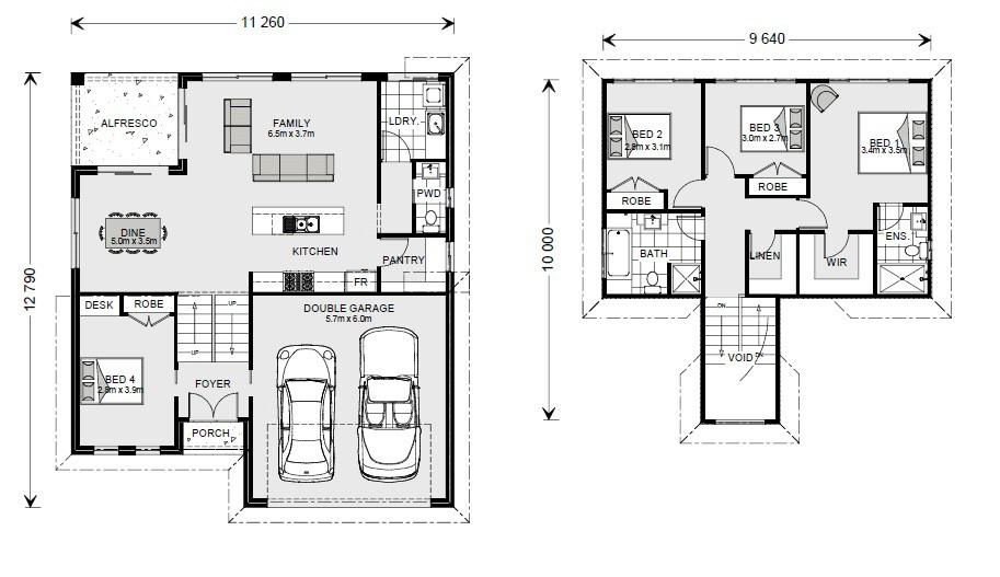 Legana 201 SL - Split Level Series Floorplan
