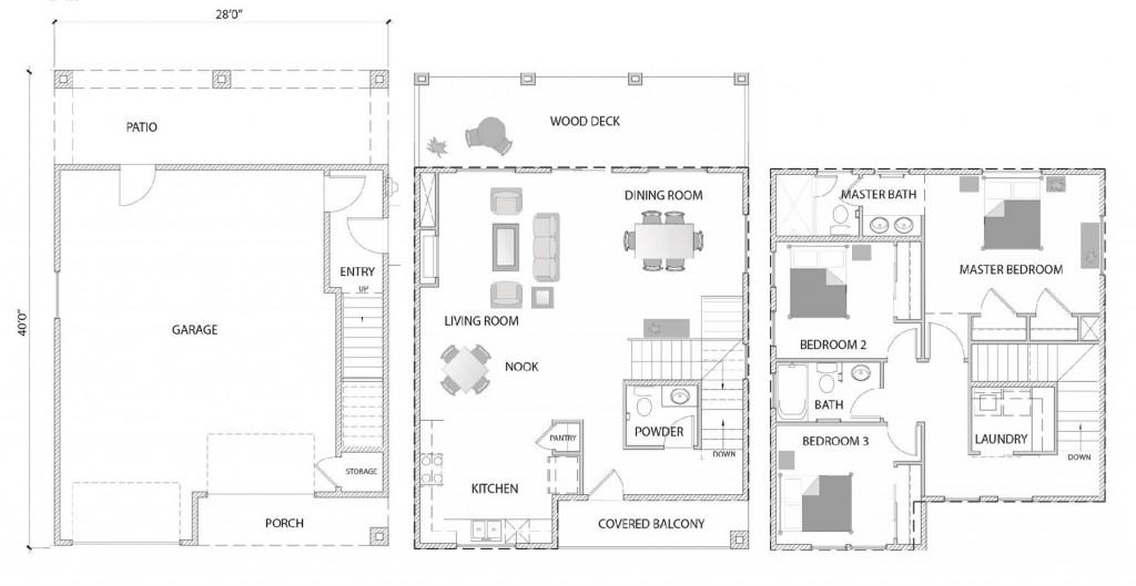 Big Bear Lodge 1395 Floorplan