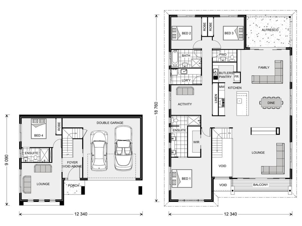 Stamford 317 SL - Split Level Series Floorplan