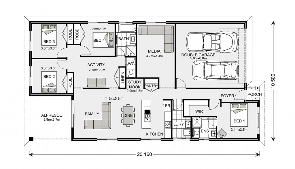 Pacific 205 - Element Series Floorplan