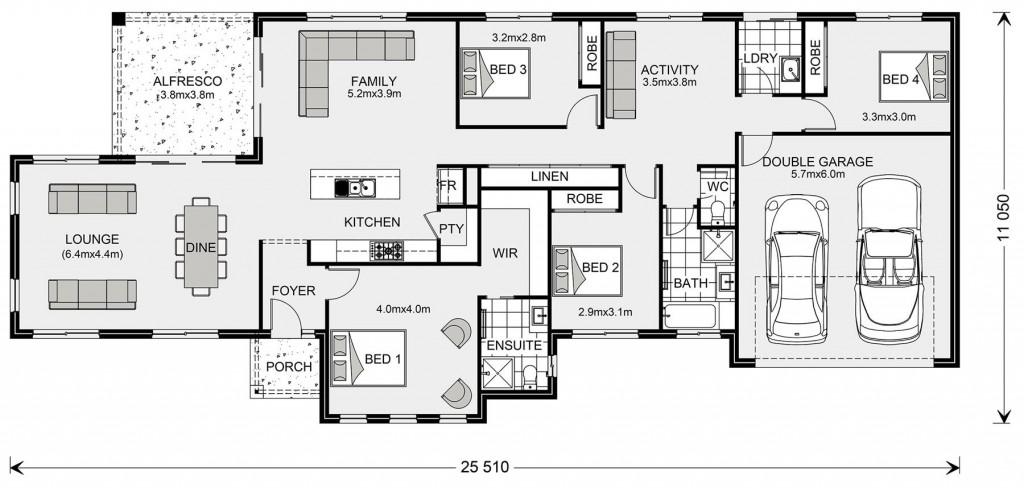 Rothbury Estate 234 - Estate Series Floorplan