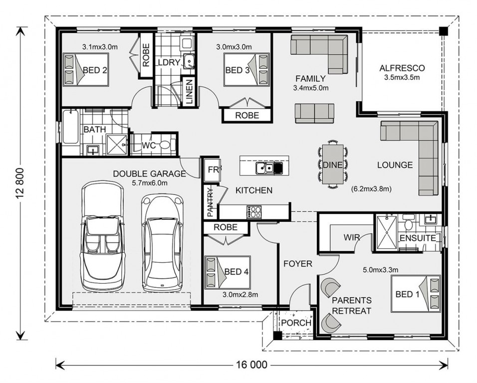 Brighton 195 - Element Series Floorplan