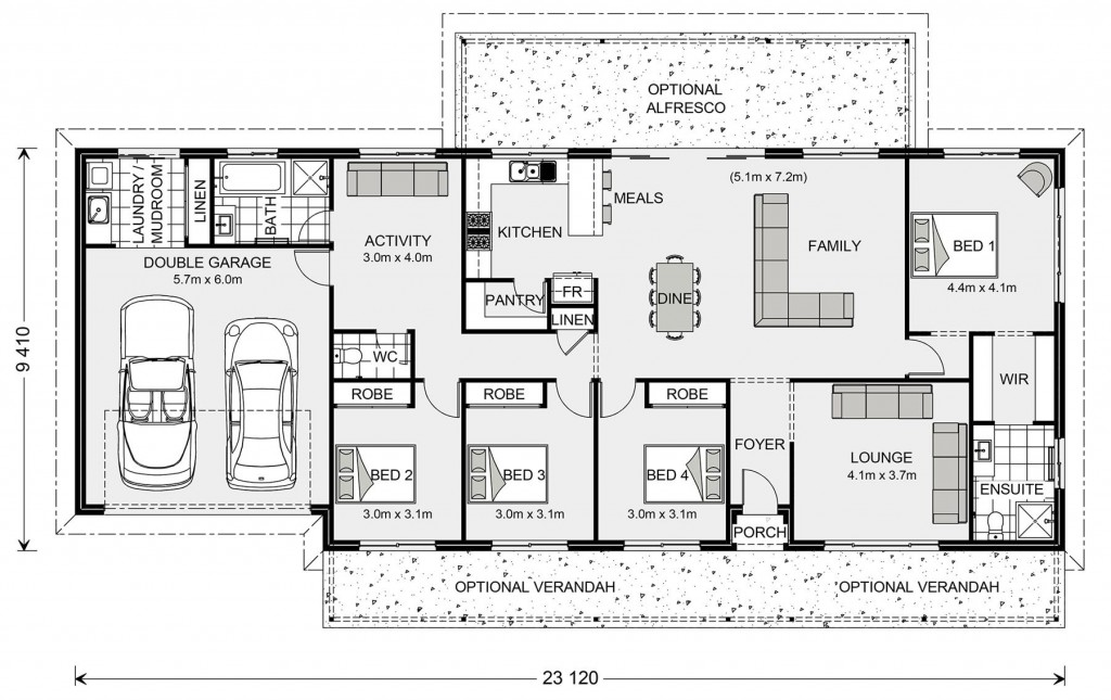 Yarraman - Homestead Series Floorplan