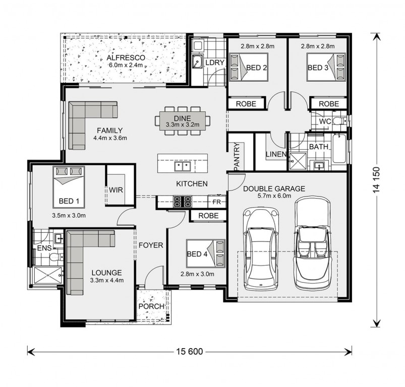 Wide Bay 196 Floorplan