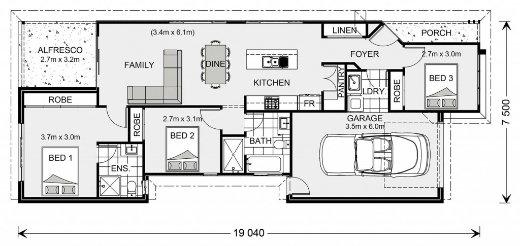 Robina 131 Floorplan
