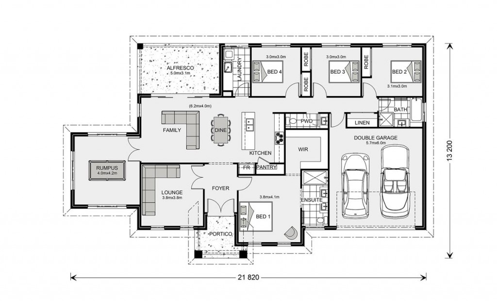 Oakdale 232 - Element Series Floorplan