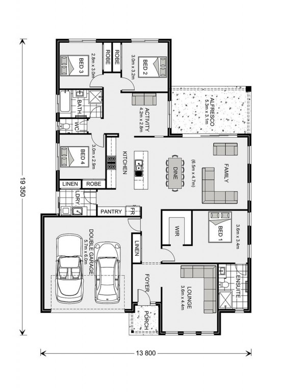Vista 230 - Element Series Floorplan