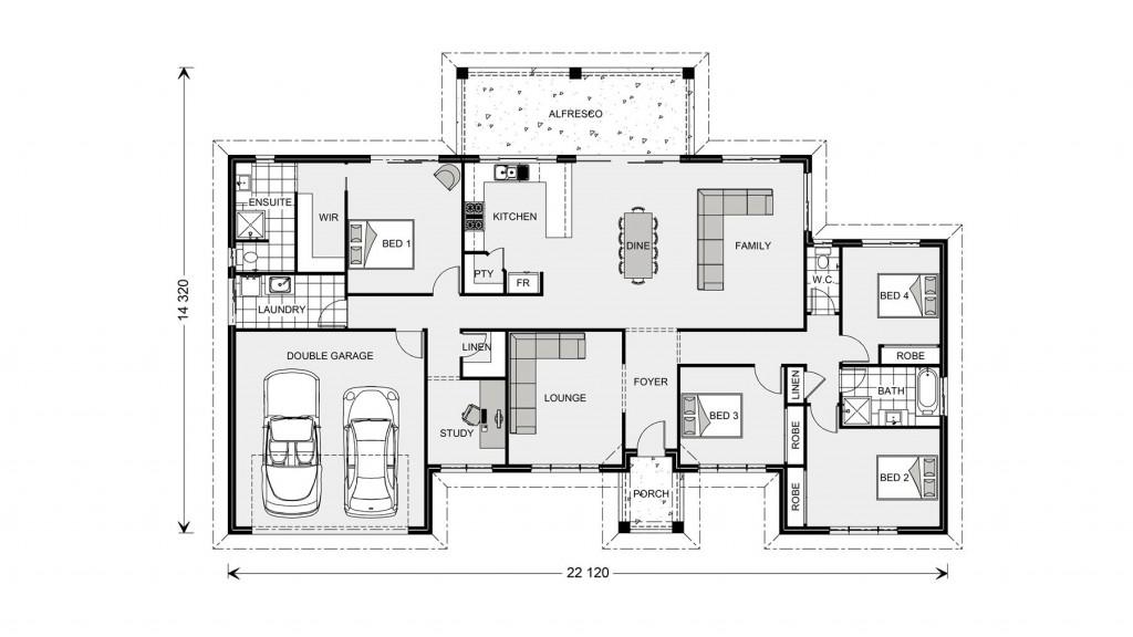 Caspian 332 - Homestead Series Floorplan