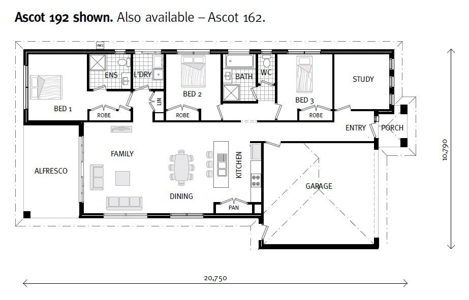 Ascot - Express Series Floorplan