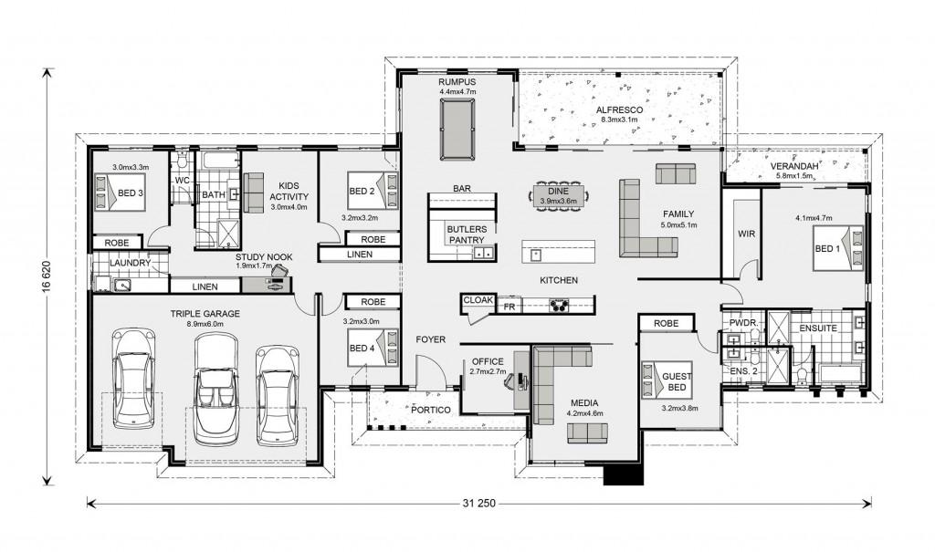 Somerset 400 - Prestige Series Floorplan