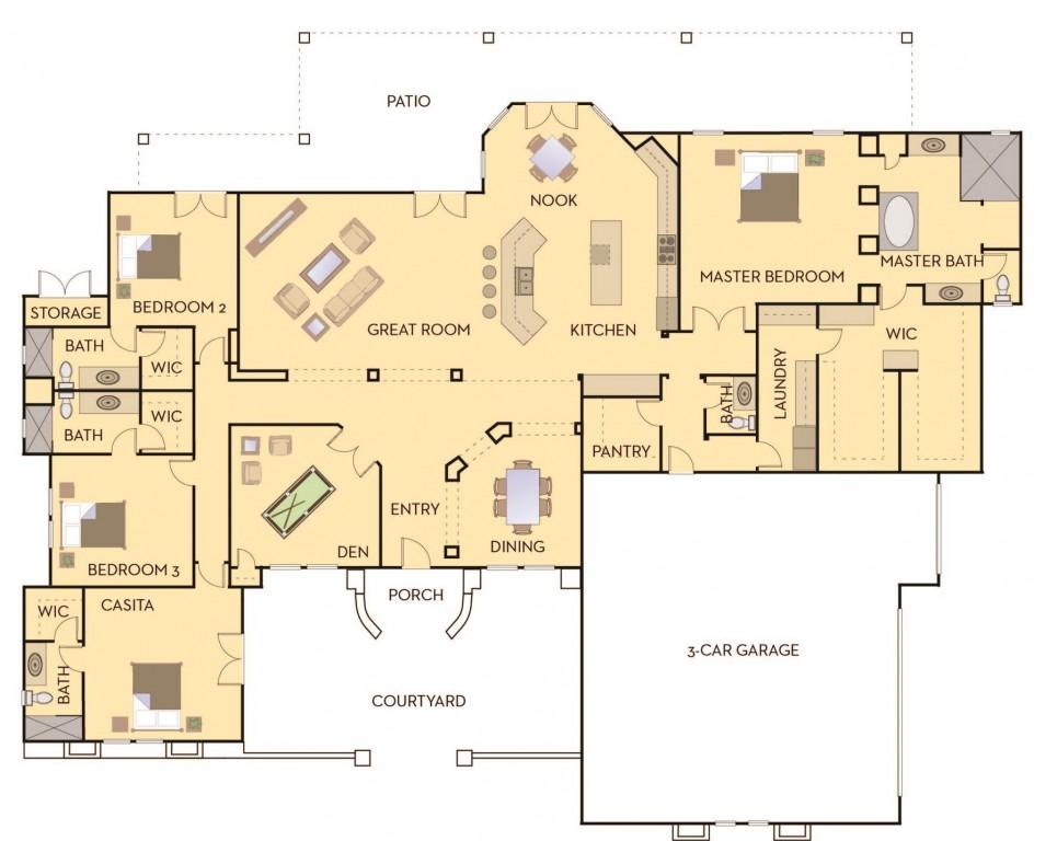 Courtyard 3543 Floorplan