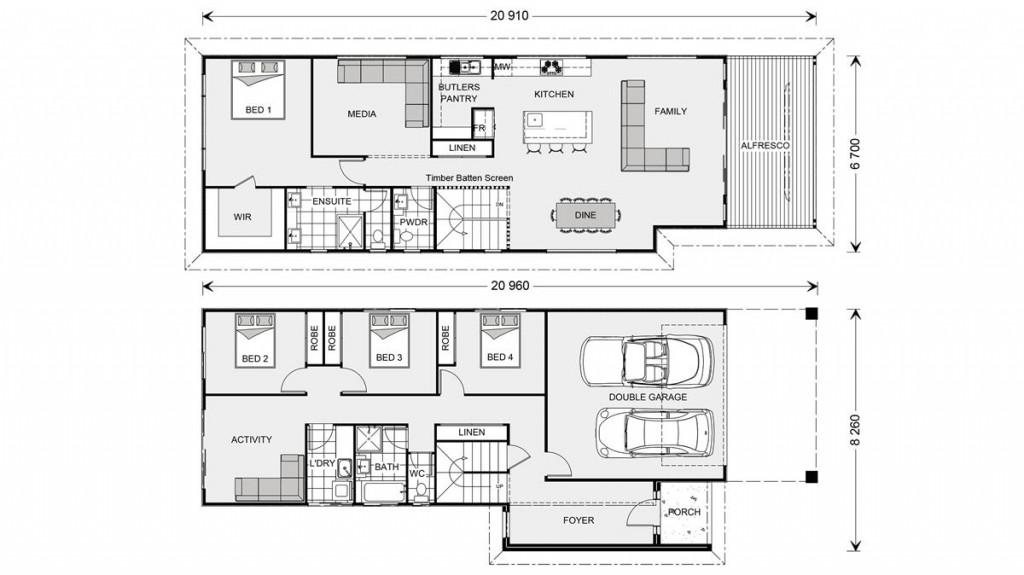 Hamilton 266 - Prestige Series Floorplan