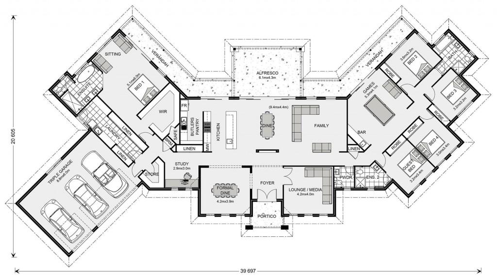Montville 380 - Element Series Floorplan