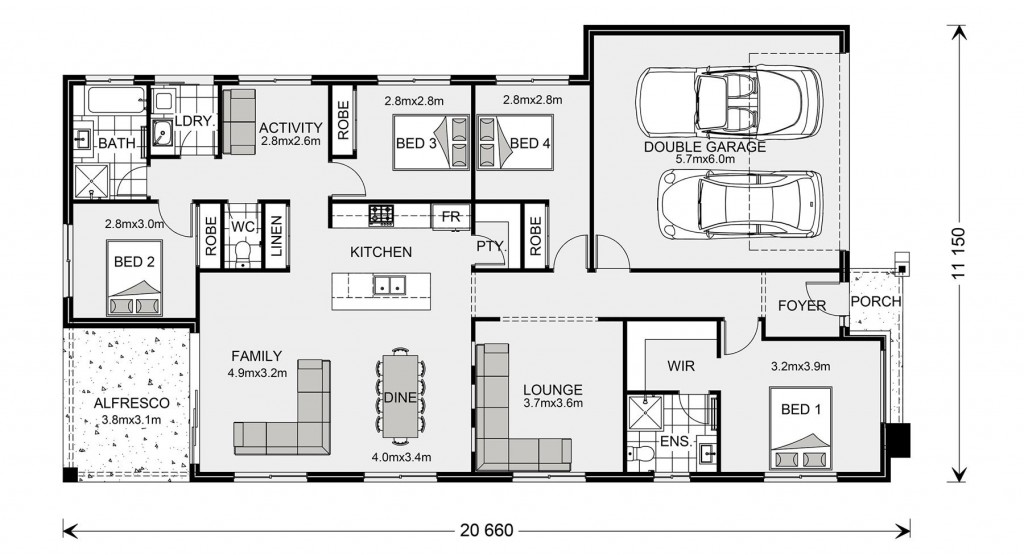 Bridgewater 205 - Element Series Floorplan