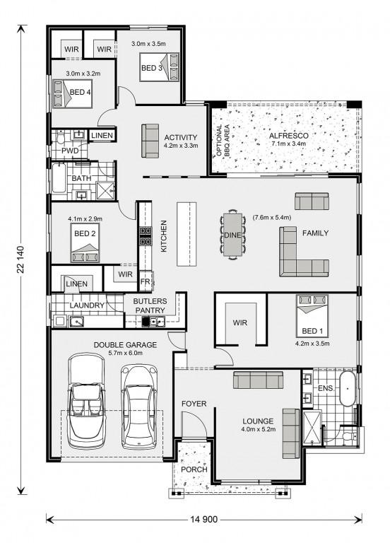 Vista 285 - Element Series Floorplan
