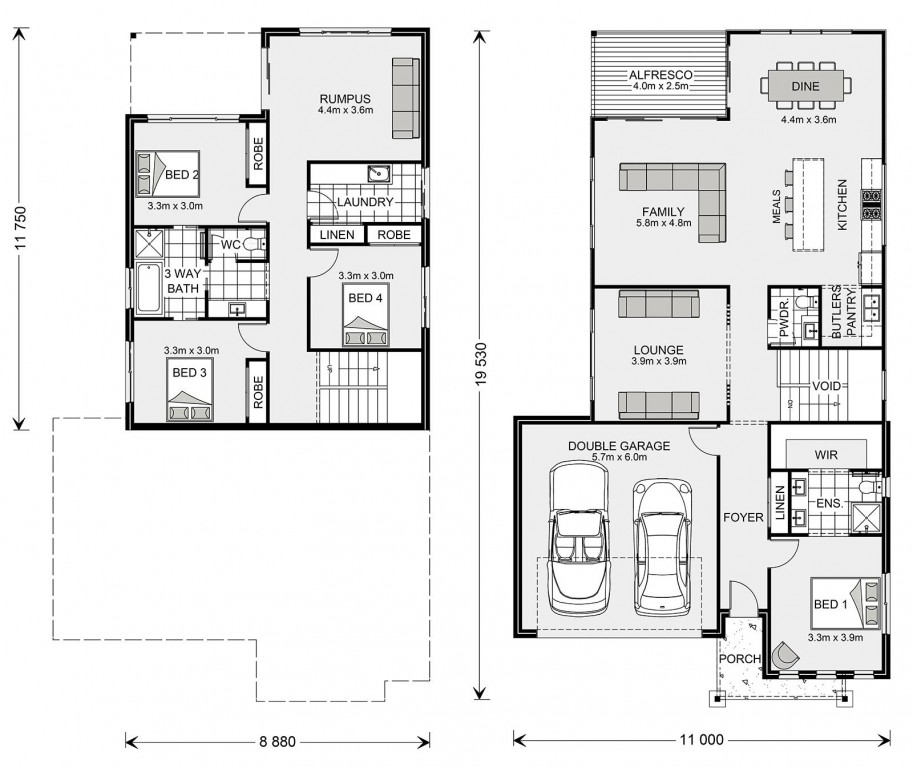 Carseldine - Split Level Series Floorplan