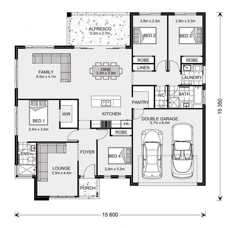 Wide Bay 212 - Element Series Floorplan