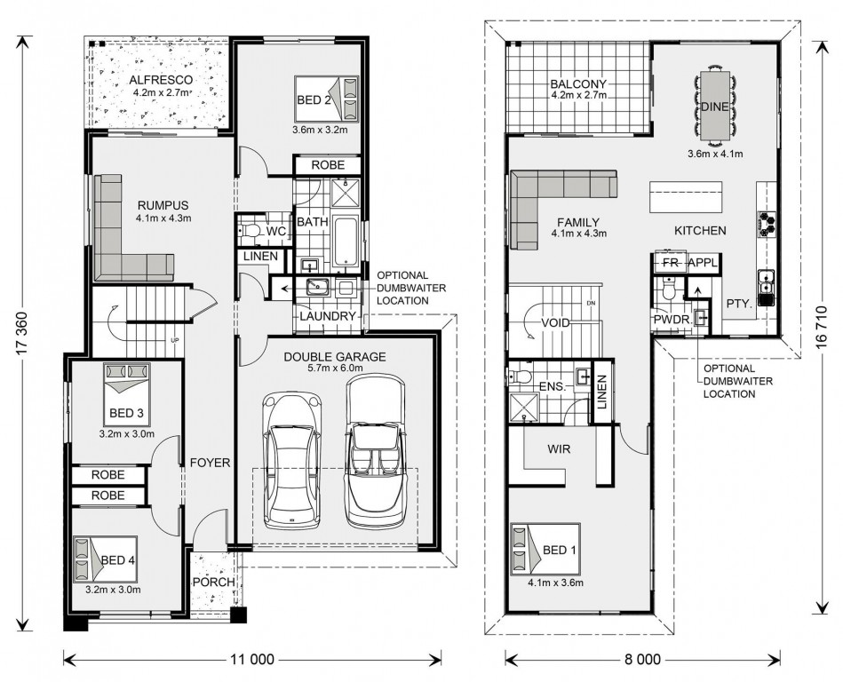 Queenscliffe - Upper Floor Living Floorplan