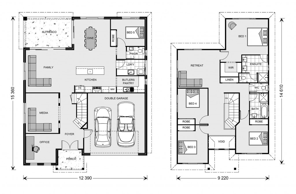 Twin Waters 292 - Element Series Floorplan