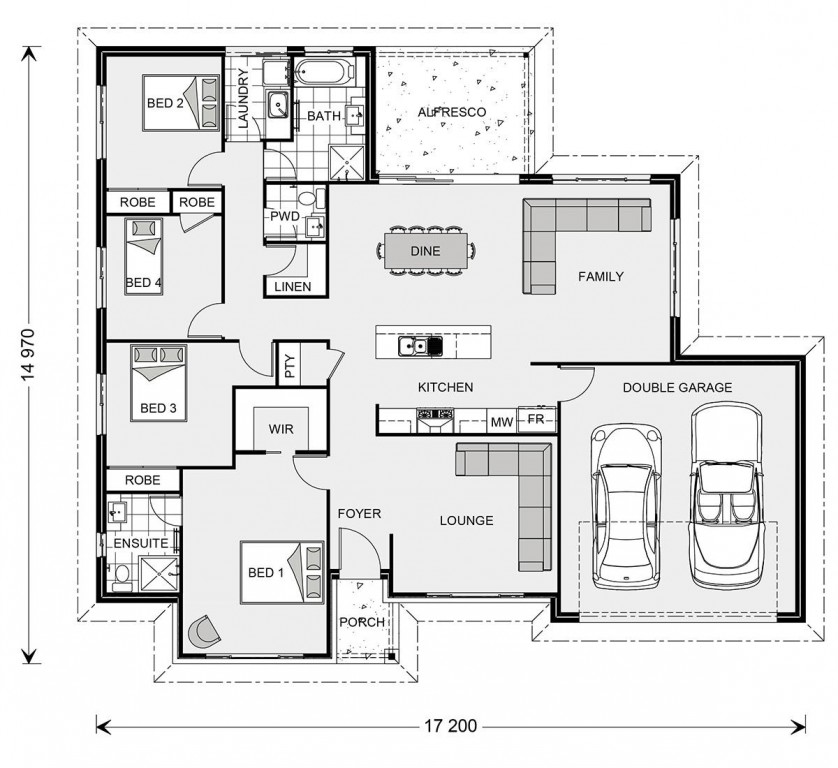 Wide Bay 209 - Element Series Floorplan