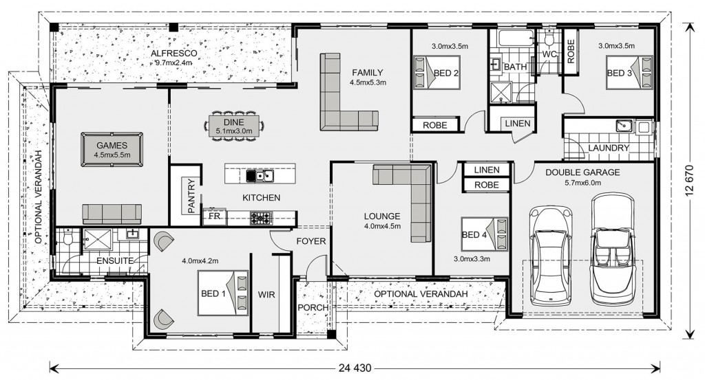 Oakhaven - Homestead Series Floorplan