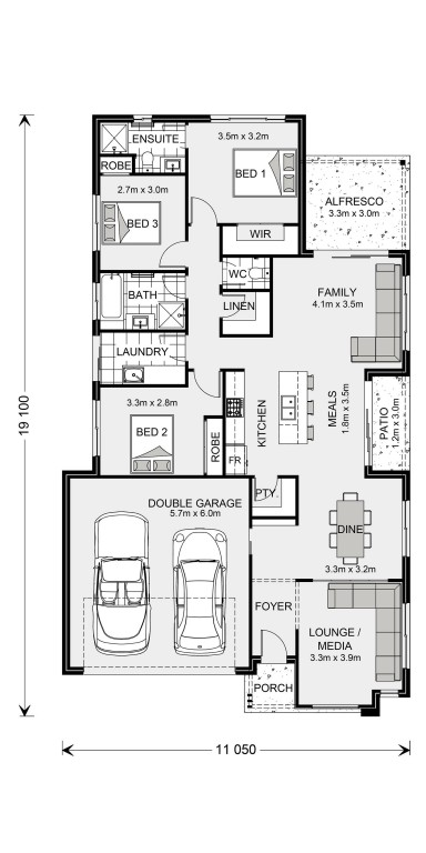 Oceanside 187 - Element Series Floorplan