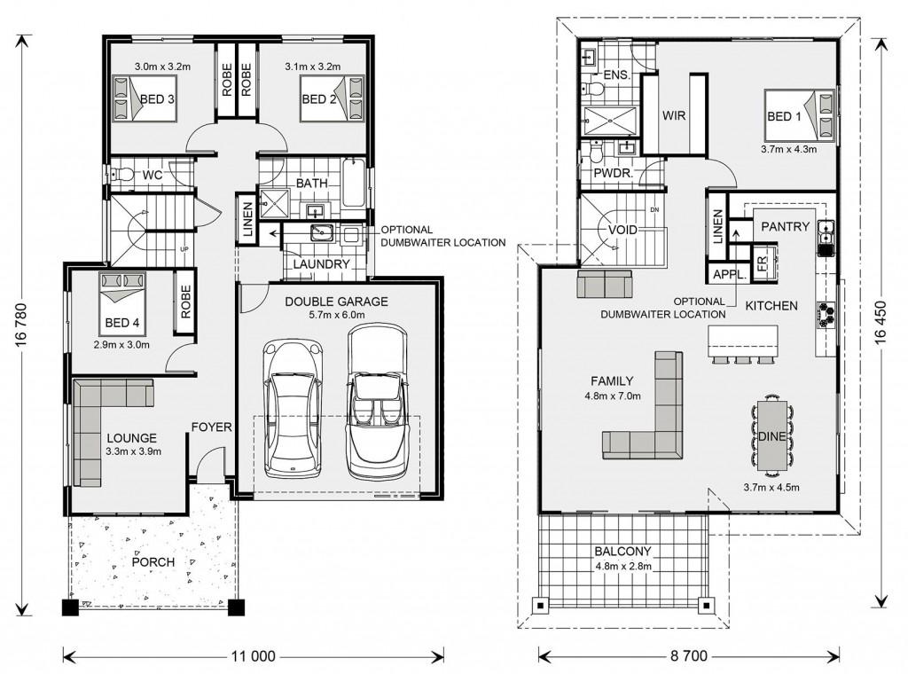 Torquay - Upper Floor Living Floorplan