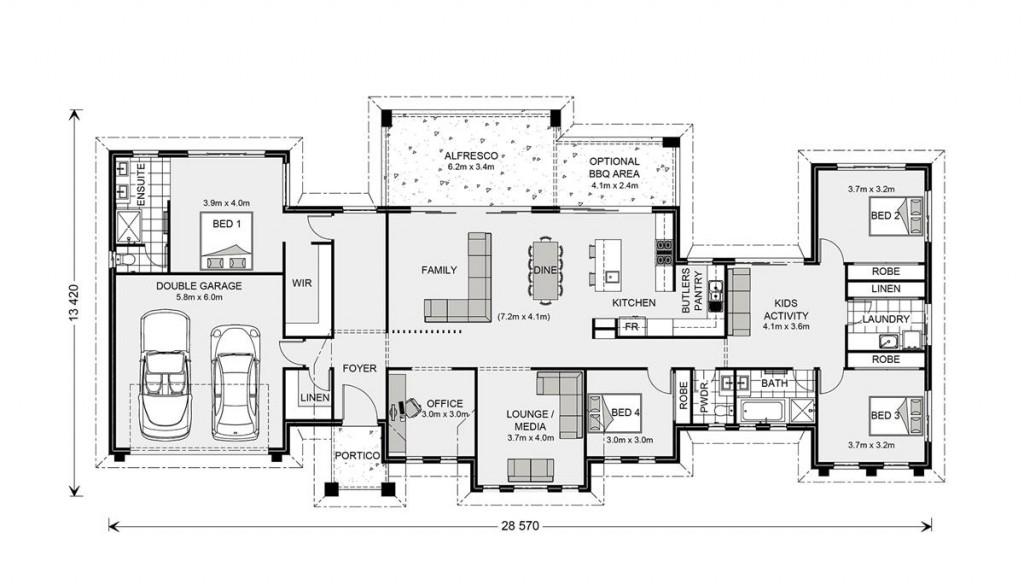 Rochedale - Prestige Series Floorplan