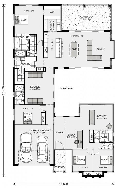 Mandalay 335 - Element Series Floorplan