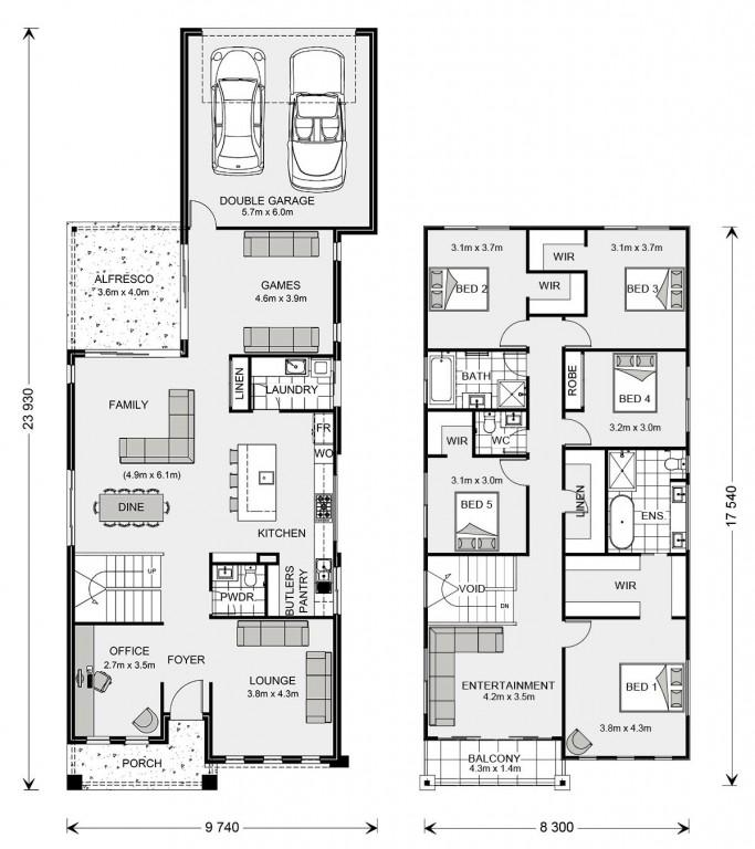 Seaview 333 Split - Rear Lane Series Floorplan