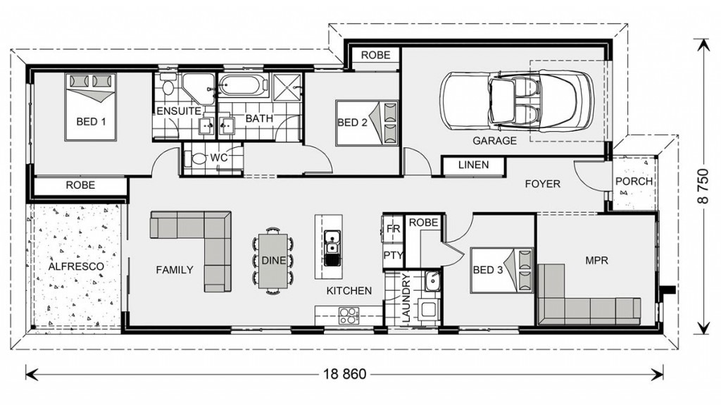 Northbridge 152 - Metro Series Floorplan
