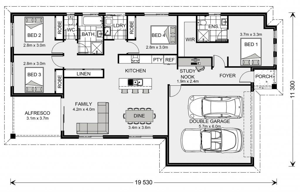 Woodridge 187 - Metro Series Floorplan