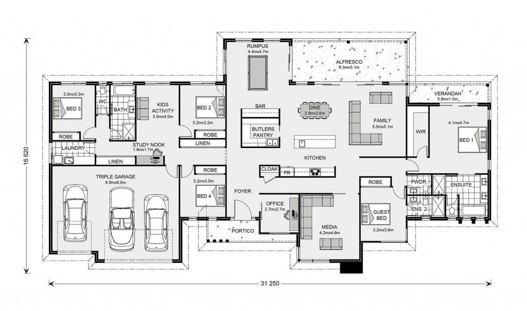 Somerset 400 - Prestige Series Floorplan