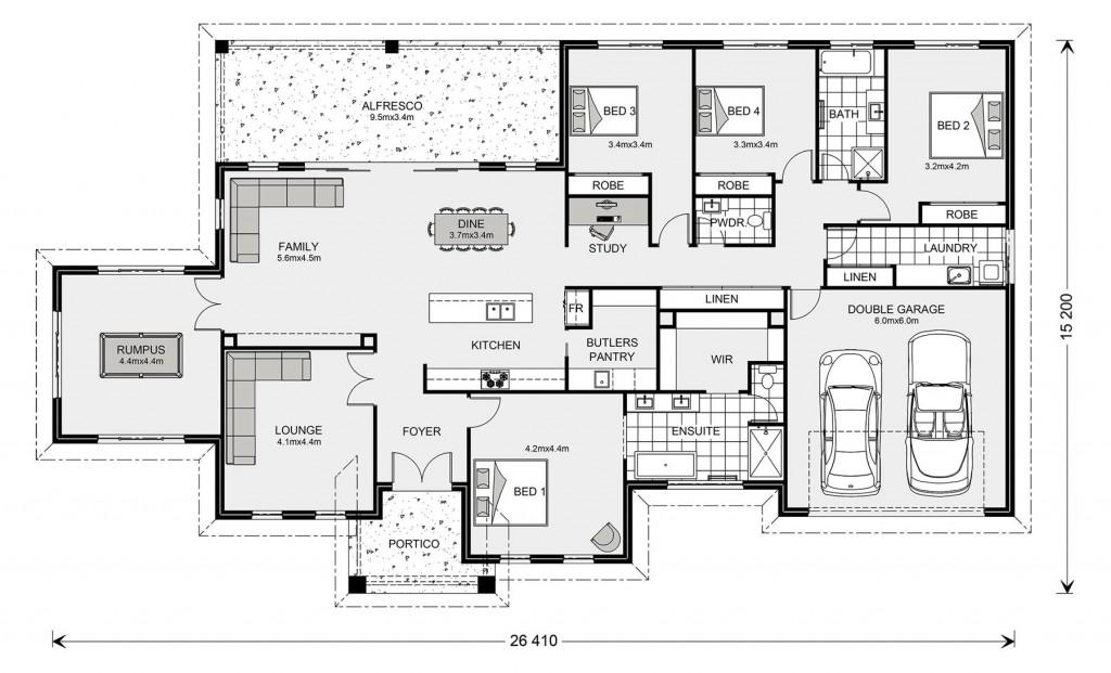 Oakdale Estate 320 - Estate Series Floorplan