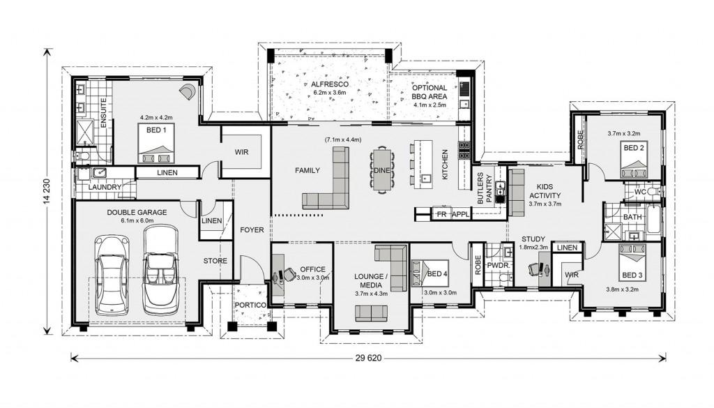 Rochedale 294 - Prestige Series Floorplan