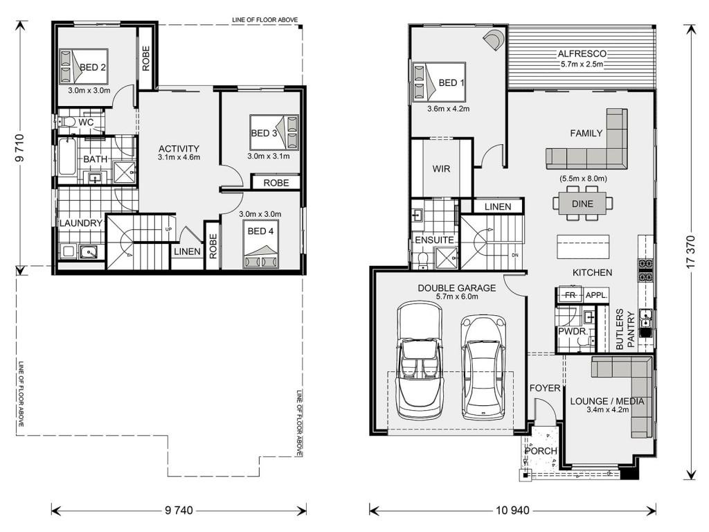 Inglewood SL 247 - Split Level Series Floorplan