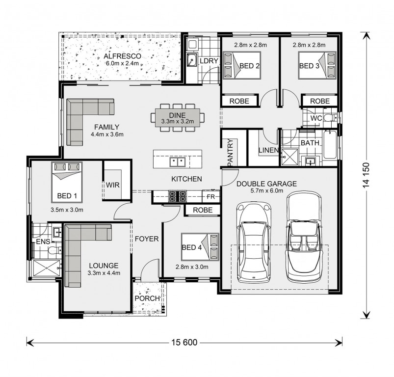 Wide Bay 196 - Element Series Floorplan