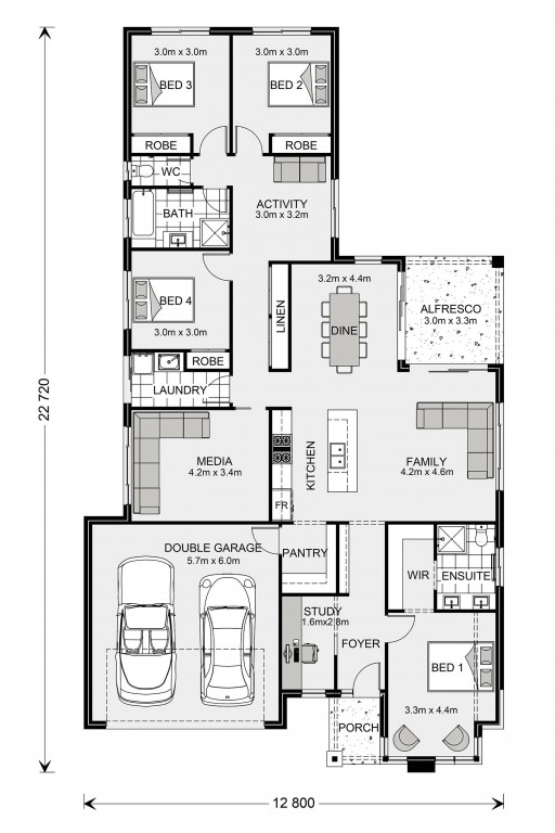 Coolum 225 - Element Series Floorplan