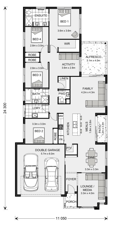 Oceanside 230 Floorplan