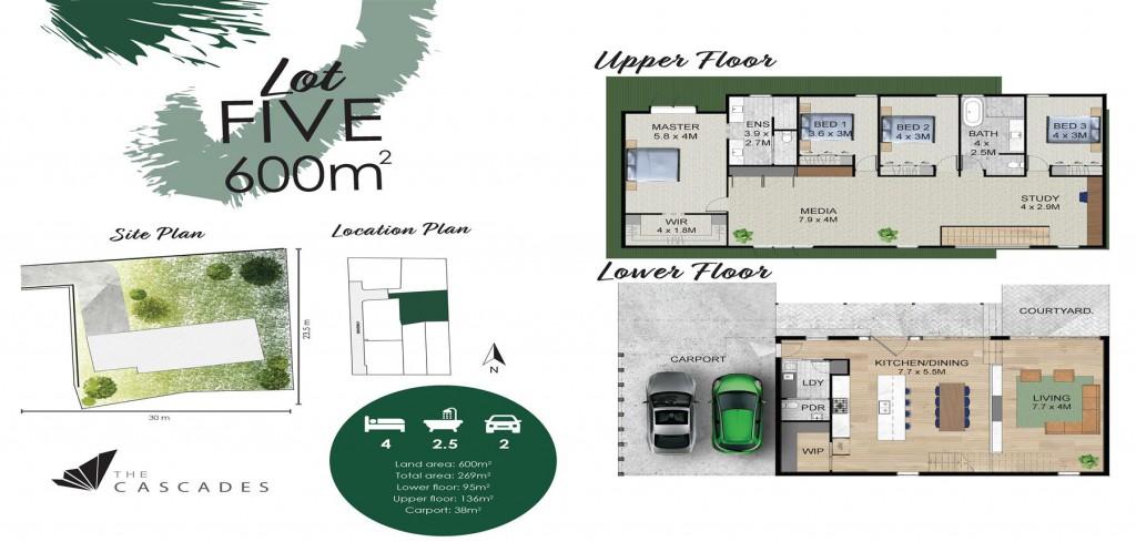 Twin Waters 380 - Element Series Floorplan