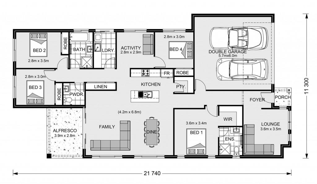 Claremont 210 - Element Series Floorplan