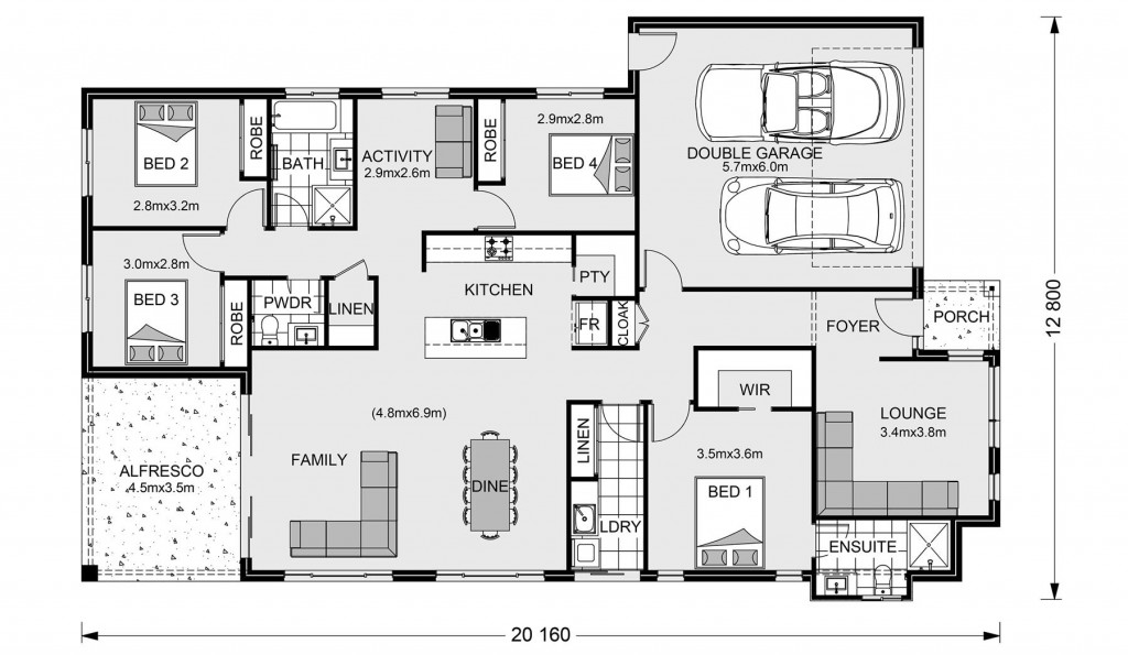 Claremont - Element Series Floorplan
