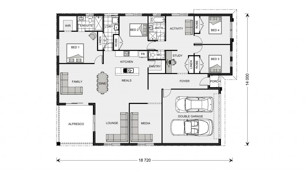 La Trobe 253 - Express Series Floorplan