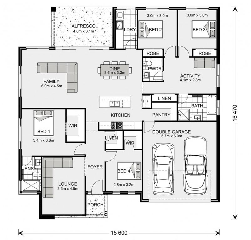 Wide Bay 232 - Element Series Floorplan