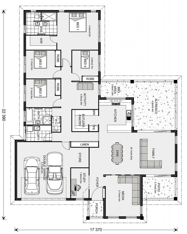 Parkview 286 - Element Series Floorplan