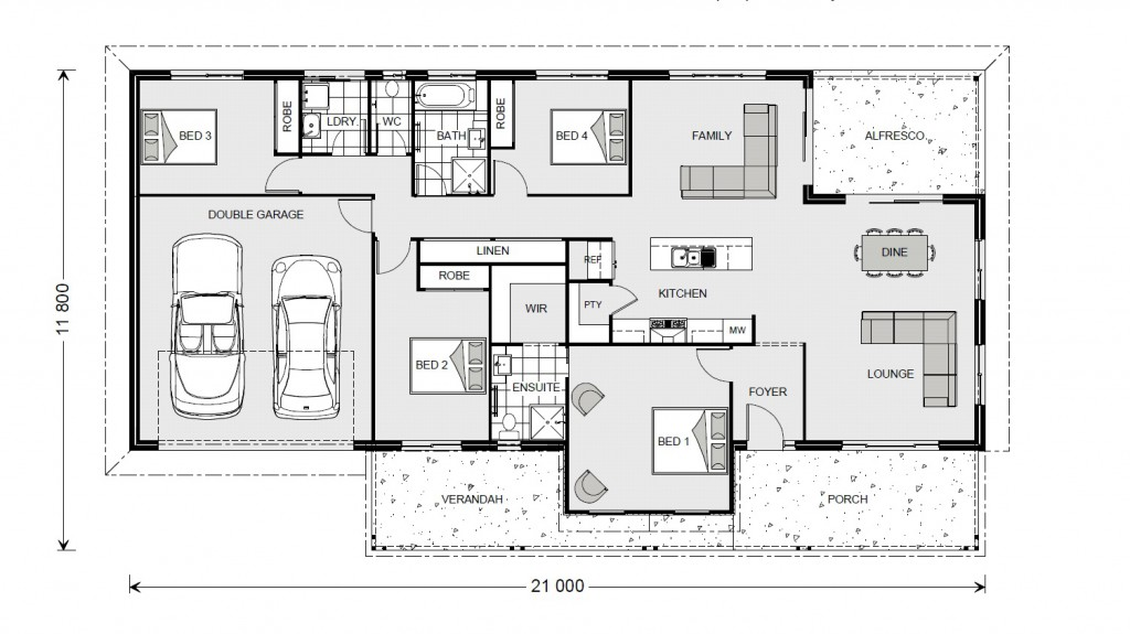Rothbury Estate 208 - Estate Series Floorplan