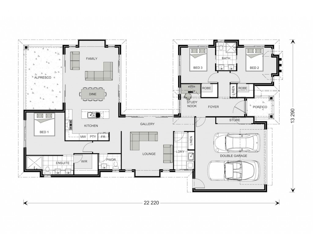 Mandalay 260 - Element Series Floorplan