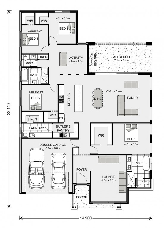 Vista 285 - Tailored by Darren Palmer Floorplan
